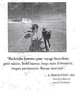 affiche historique exploration des poles
